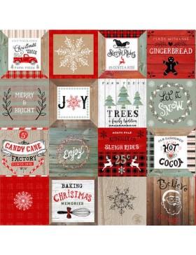 Baumwolle Christmas Memories Karten Schilder Weihnachten Motive...
