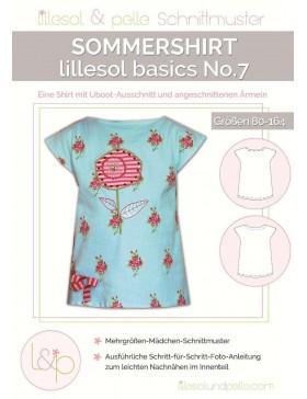Schnittmuster Lillesol Basics Sommershirt No 7
