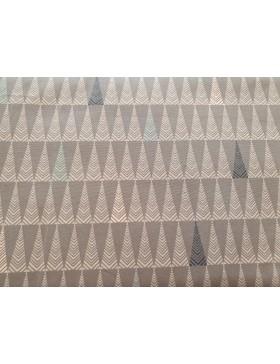 Baumwolle Webware Dreieck Dreiecke anthrazit grau rose grafische...