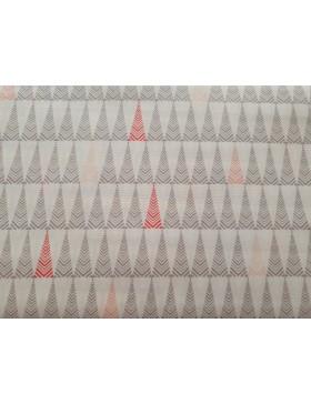 Baumwolle Webware Dreieck Dreiecke weiß grau koralle rosa grafische...
