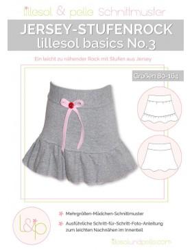 Schnittmuster Lillesol Basics No 3 Stufenrock Mädchenrock
