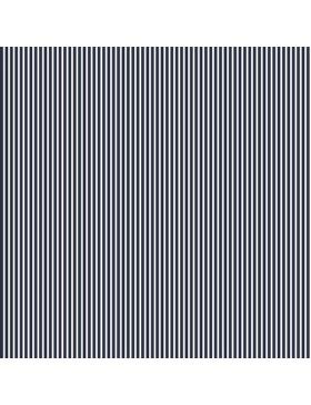 Baumwollstoff Streifen gestreift dunkelblau weiß 08234.002