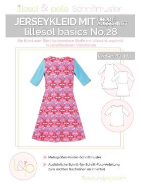 Schnittmuster Lillesol Basics No 28 Jerseykleid UBoot-Ausschnitt