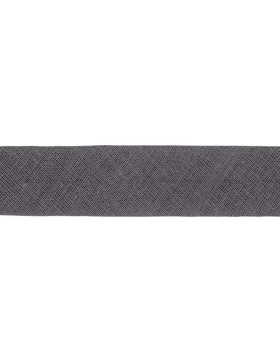 1m Baumwoll-Schrägband dunkelgrau 001 gefalzt 30 mm breit