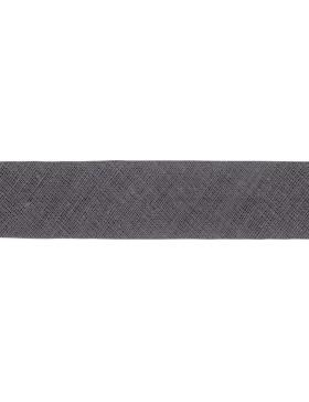 1m Baumwoll-Schrägband dunkelgrau 001 gefalzt 20 mm breit