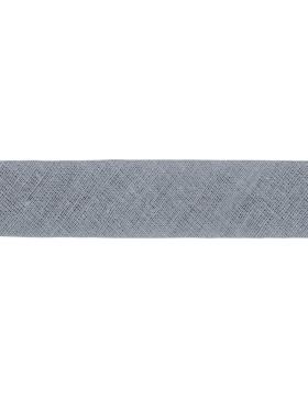 1m Baumwoll-Schrägband hellgrau 004 gefalzt 20 mm breit