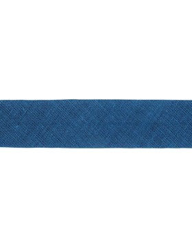 1m Baumwoll-Schrägband dunkelblau 295 gefalzt 30 mm breit