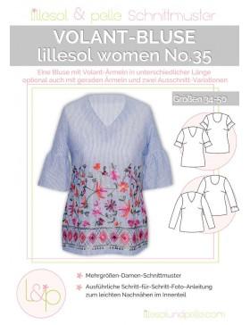 Schnittmuster Lillesol Women No 35 Volantbluse Webware