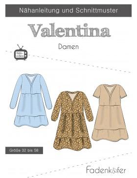 Papierschnittmuster Valentina Kleid Webware Boho Kleid Stufenkleid...