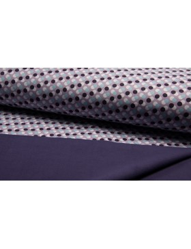 Softshell Fleece Punkte gepunktet Dots lila flieder violett grau