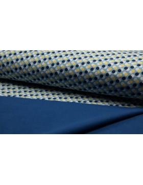 Softshell Fleece Punkte gepunktet Dots hellblau blau gelb grau