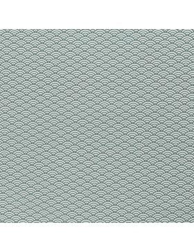 Baumwollstoff Webware Muscheln Wellen grün weiß Kurt Swafing