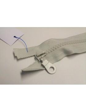 Reißverschluss teilbar 45 cm hell grau