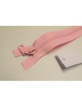 Reißverschluss teilbar 55 cm rosa hell