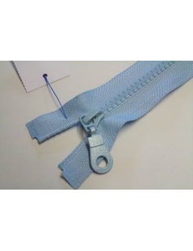 Reißverschluss teilbar 80 cm hell blau