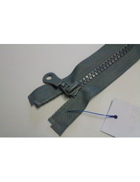 Reißverschluss teilbar 55 cm grau