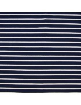 French Terry Sweat dunkelblau blau weiß gestreift Streifen maritim
