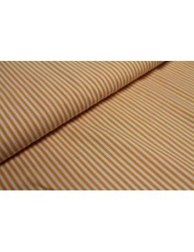 Stoff Baumwolle orange gestreift Streifen 3 mm