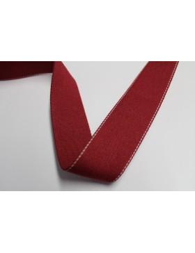 1 Meter Gurtband rot mit weißem Nadelstreifen 40 mm breit Baumwolle