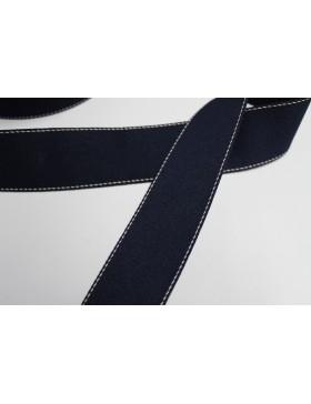 1 Meter Gurtband dunkelblau mit weißem Nadelstreifen 40 mm breit...