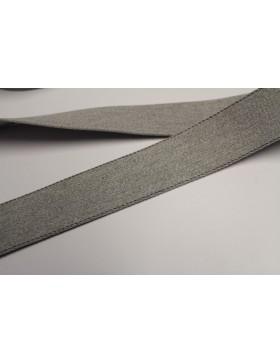 1 Meter Gurtband grau mit weißem Nadelstreifen 40 mm breit Baumwolle