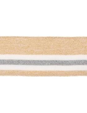 Bündchen Cuff gold beige weiß silber Glitzer 6 cm breit
