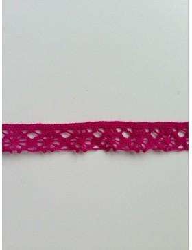 1m Spitze pink fuchsia 14 mm breit