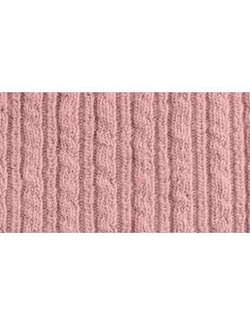 Strick Strickstoff Zopfmuster altrosa rose nude Wolle