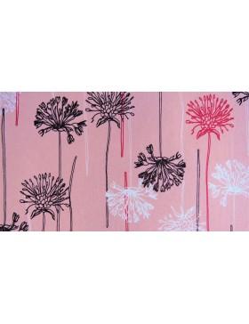 Softshell Fleece Löwenzahn Pusteblume Pusteblumen rosa rose