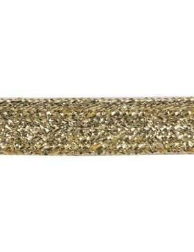 1m Paspelband 10mm breit gold Lurex Paspel