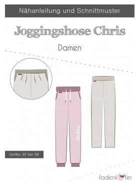 Papierschnittmuster Jogginghose Chris Damen Fadenkäfer