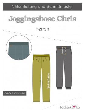 Papierschnittmuster Jogginghose Chris Herren Fadenkäfer