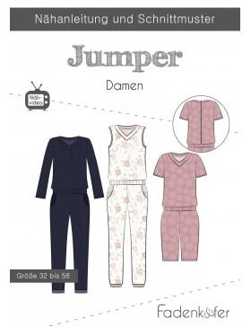 Papierschnittmuster Overall Jumper Damen Fadenkäfer