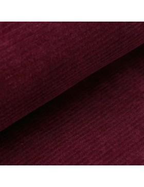 Cord Jersey breit gerippt bordeaux weinrot einfarbig uni Breitcord