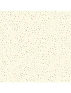 Baumwollstoff Yuletide Metallic Spot creme weiß gold Weihnachten...