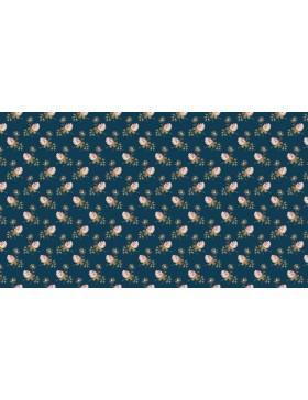 Baumwollstoff Super Bloom Clover Streublümchen dunkelblau