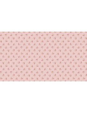Baumwollstoff Super Bloom Clover Streublümchen rose rosa