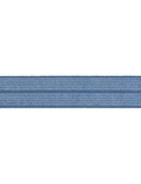 1m Falzgummi Faltgummi Einfassgummi 20 mm jeansblau