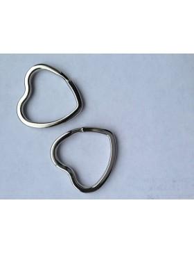 2 Stück Schlüsselringe Herz Herzen
