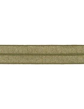 1m Falzgummi Faltgummi Einfassgummi 20 mm khaki grün