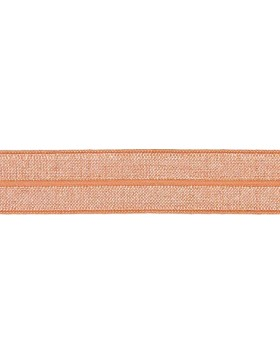 1m Falzgummi Faltgummi Einfassgummi 20 mm apricot