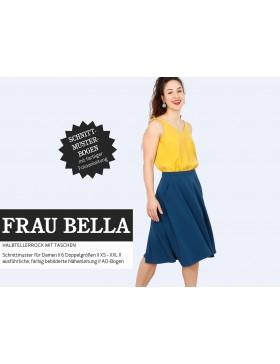 Schnittmuster Frau Bella Schnittreif Halbtellerrock mit Taschen