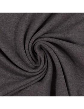 Sweatstoff Sweat melange meliert dunkelgrau grau 1285 Eike