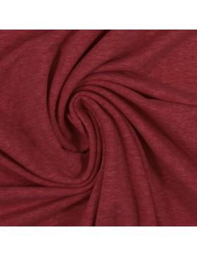 Sweatstoff Sweat melange meliert burgundy rot 1338 Eike