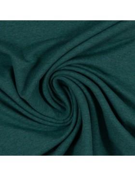 Sweatstoff Sweat melange meliert dunkelgrün smaragd 1563 Eike