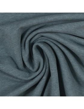 Sweatstoff Sweat melange meliert rauchblau blau 1742 Eike