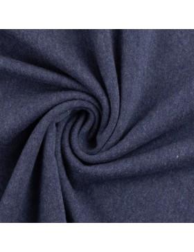Stoff Bündchen melange meliert dunkelblau marine 1598 Heike