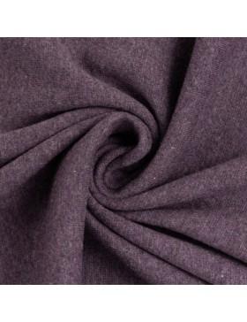 Stoff Bündchen melange meliert violett 1648 Heike