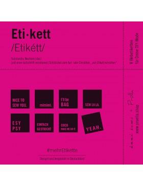 Webetiketten mehrEtikette 2 Edition pink von Prülla und Ännisews