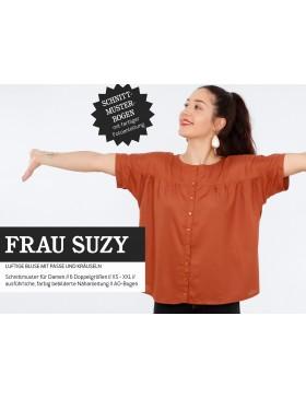 Schnittmuster Frau Suzy Schnittreif Kurzarmbluse